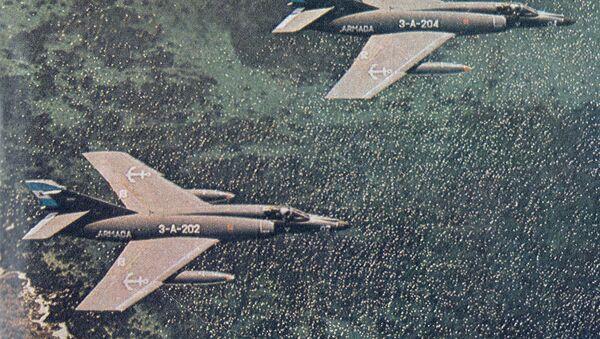 Aviones Super Étendard de la Fuerza Aérea Argentina en 1982 - Sputnik Mundo