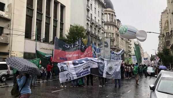 La protesta social aumenta en Argentina - Sputnik Mundo