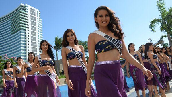 El secreto de la belleza aflora en la presentación de las candidatas a Miss Filipinas - Sputnik Mundo