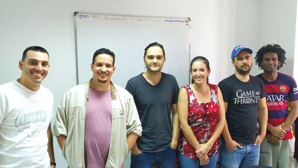 Equipo de Lombao Estudios, un emprendimiento cubano - Sputnik Mundo