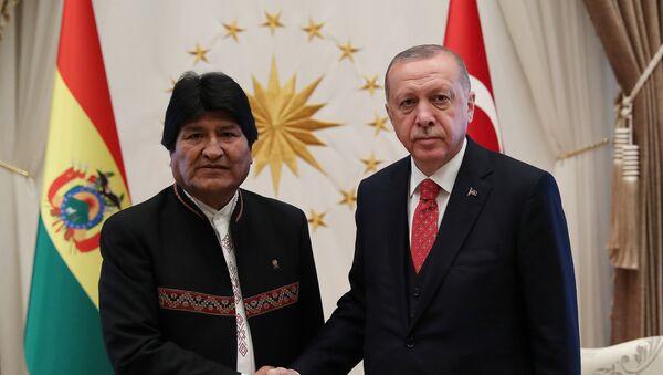 El presidente de Bolivia, Evo Morales y el presidente de Turquía, Recep Tayyip Erdogan - Sputnik Mundo