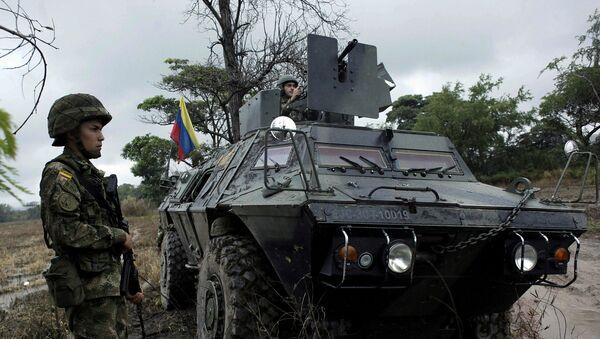 Militares colombianos de guardia en la frontera con Venezuela - Sputnik Mundo