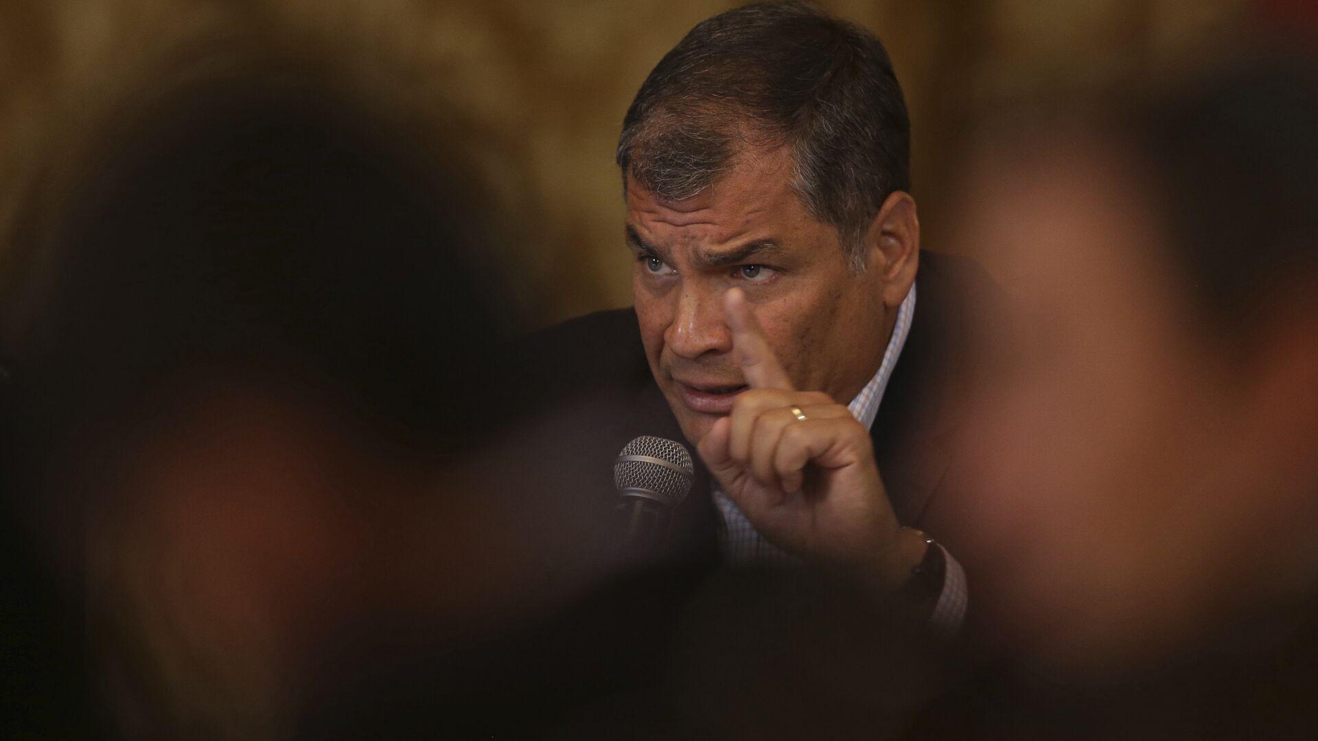 Rafael Correa, expresidente de Ecuador (archivo) - Sputnik Mundo, 1920, 17.09.2021