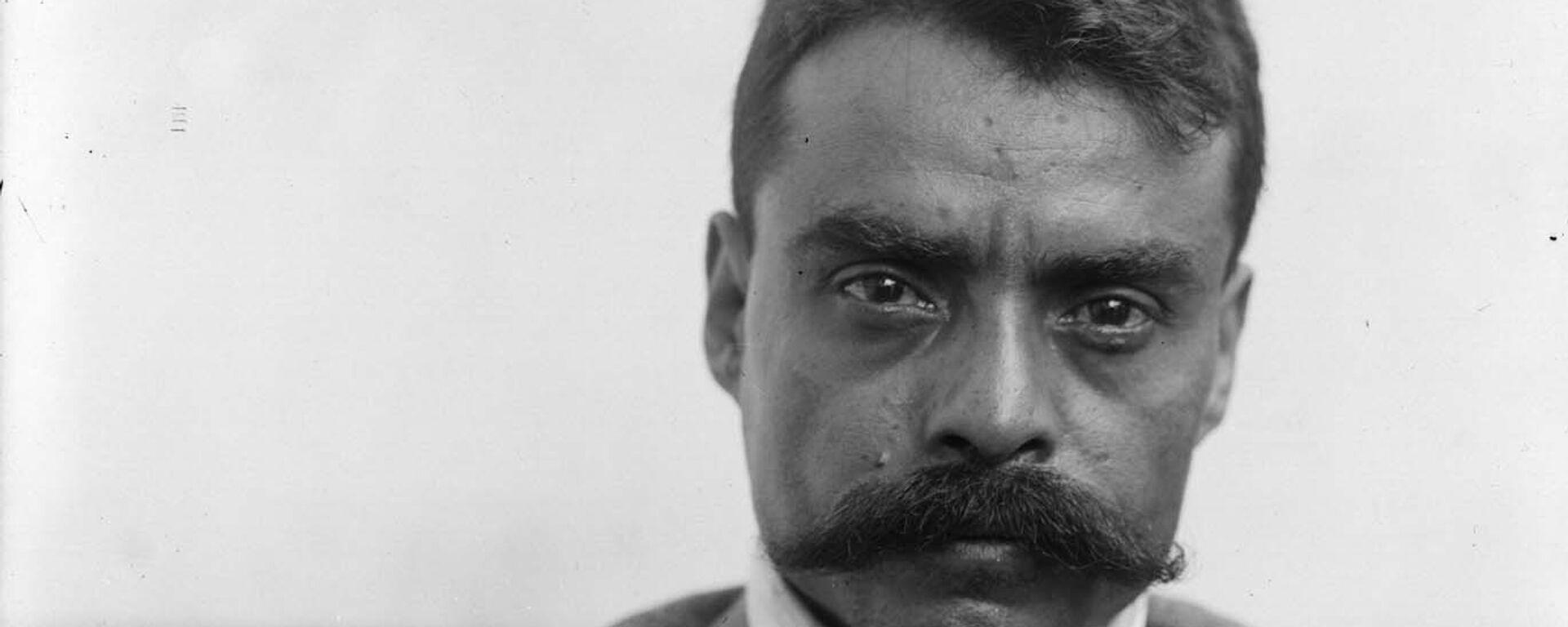 El líder revolucionario mexicano Emiliano Zapata en 1914 - Sputnik Mundo, 1920, 30.04.2021