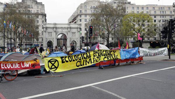 Protestas contra el cambio climático en Londres, Reino Unido - Sputnik Mundo