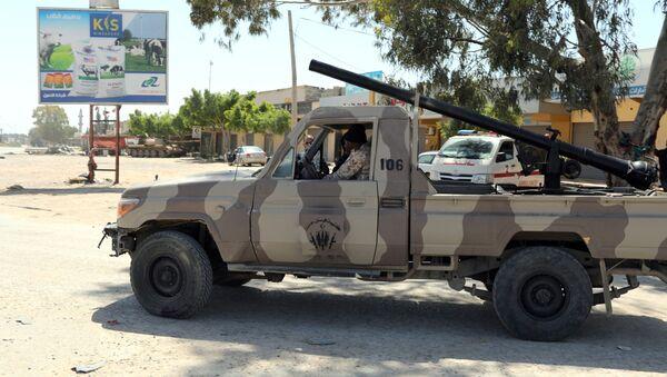 Militares en las afueras de Trípoli, Libia - Sputnik Mundo