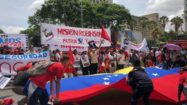 La marcha chavista en Caracas, Venezuela - Sputnik Mundo