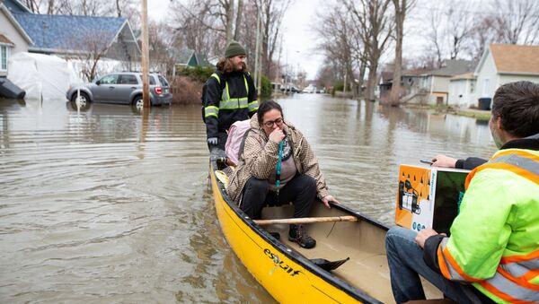 Inundaciones en Quebec, Canadá - Sputnik Mundo