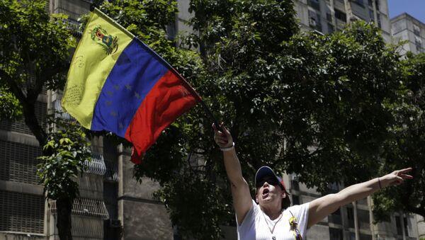 Una manifestación opositora en Caracas - Sputnik Mundo