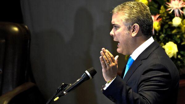 Iván Duque, presidente de Colombia (archivo) - Sputnik Mundo