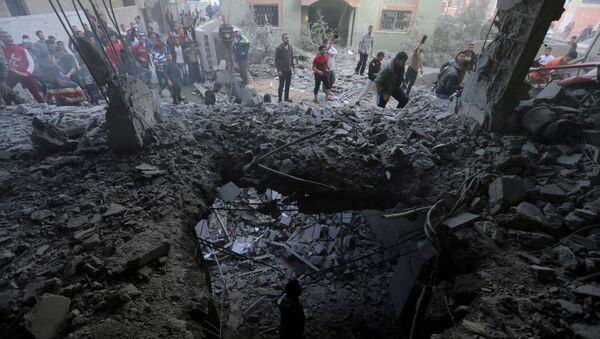 Situación en la Franja de Gaza tras un ataque israelí - Sputnik Mundo