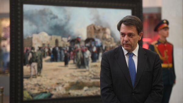 Augusto Ferrer-Dalmau Nieto, pintor español, presenta su cuadro sobre la guerra en Siria - Sputnik Mundo