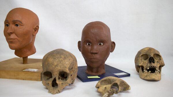 Los cráneos encontrados en el poblado prehispánico de Zultépec-Tecoaque - Sputnik Mundo