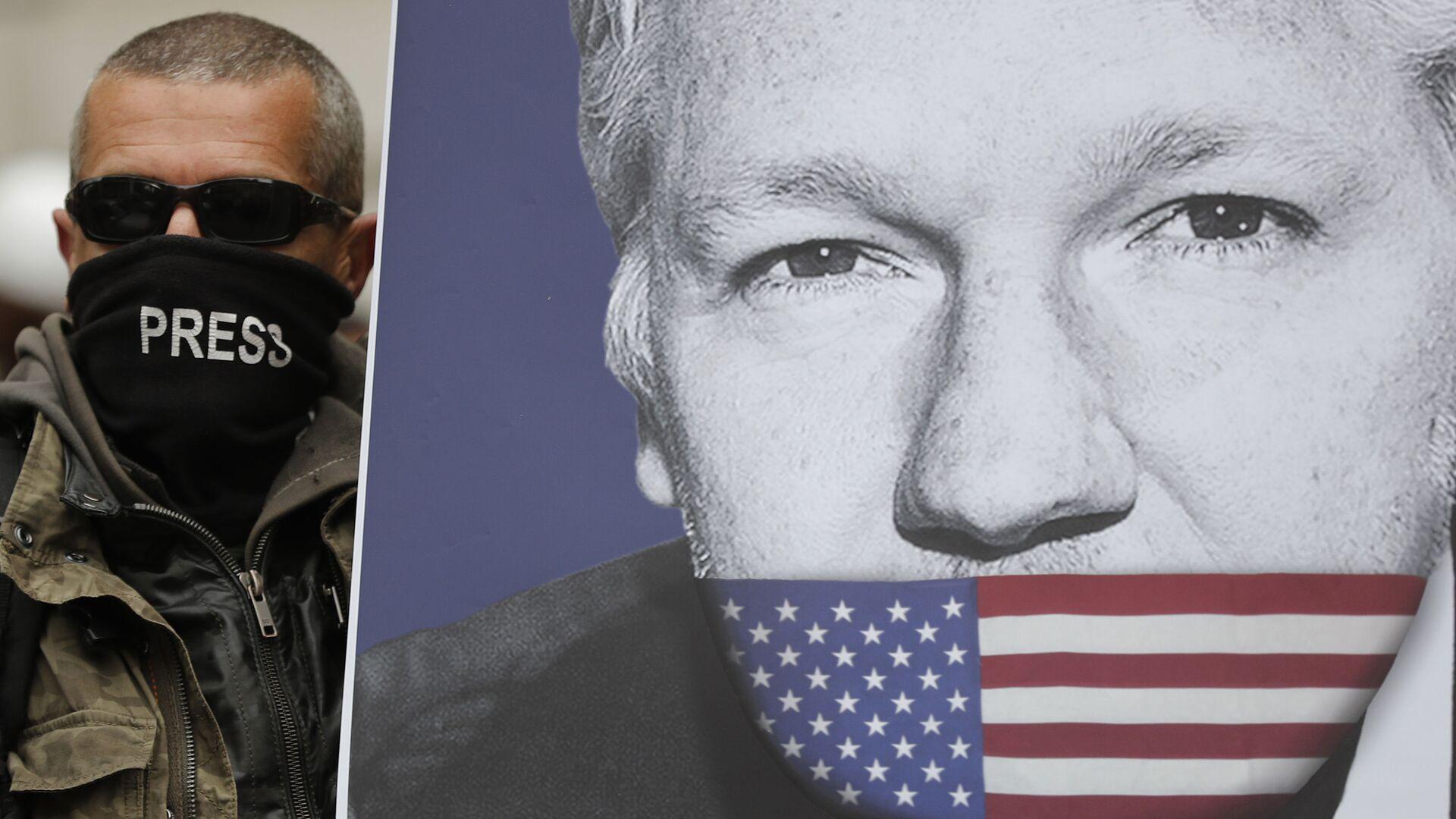 El retrato de Julian Assange - Sputnik Mundo, 1920, 13.02.2021
