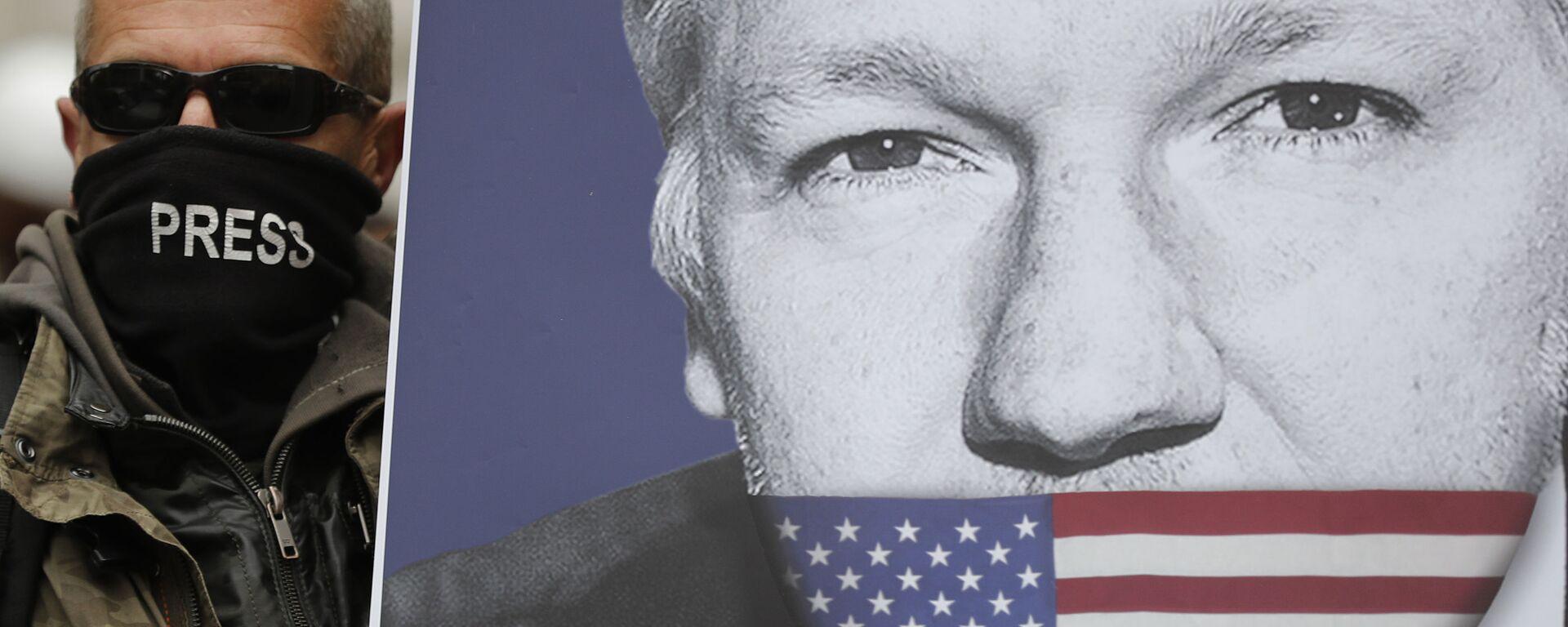 El retrato de Julian Assange - Sputnik Mundo, 1920, 09.07.2021