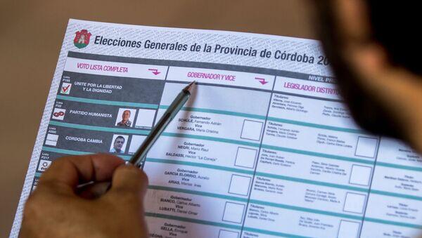 Las elecciones en la provincia de Córdoba, Argentina - Sputnik Mundo