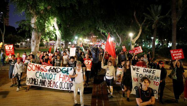 Protesta en Tel Aviv, Israel - Sputnik Mundo