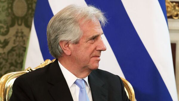 El presidente de Uruguay, Tabaré Vázquez (archivo) - Sputnik Mundo