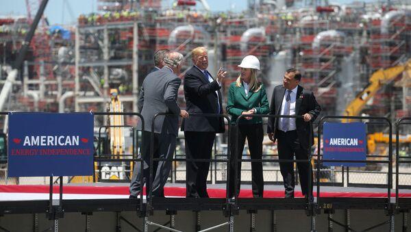 Donald Trump, presidente de EEUU, en la inauguración de la planta de Cameron LNG - Sputnik Mundo
