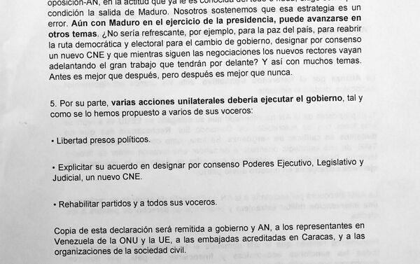 Carta de la Alianza por el Referéndum Consultivo, página 2 - Sputnik Mundo