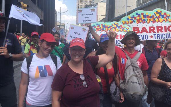Movilización chavista en Caracas - Sputnik Mundo
