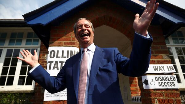El líder del Partido Brexit, Nigel Farage - Sputnik Mundo