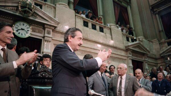 El expresidente de Argentina, Raúl Alfonsín - Sputnik Mundo