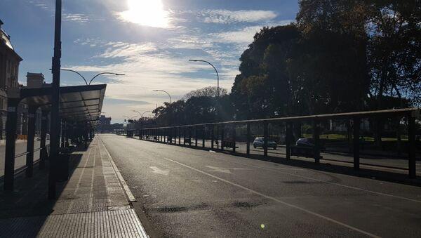 La ciudad de Buenos Aires, paralizada en una huelga convocada por la Confederación General del Trabajo y apoyada por la Central de Trabajadores de Argentina - Sputnik Mundo