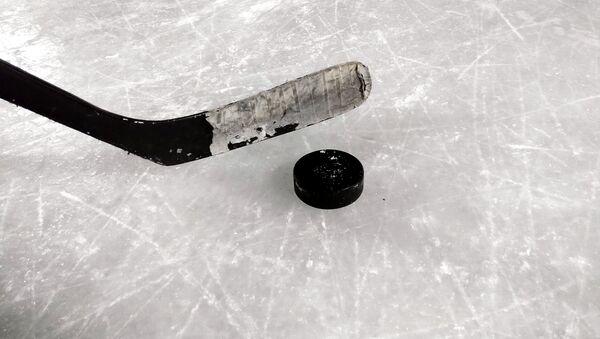 Un 'poc' y un palo de hockey sobre hielo - Sputnik Mundo
