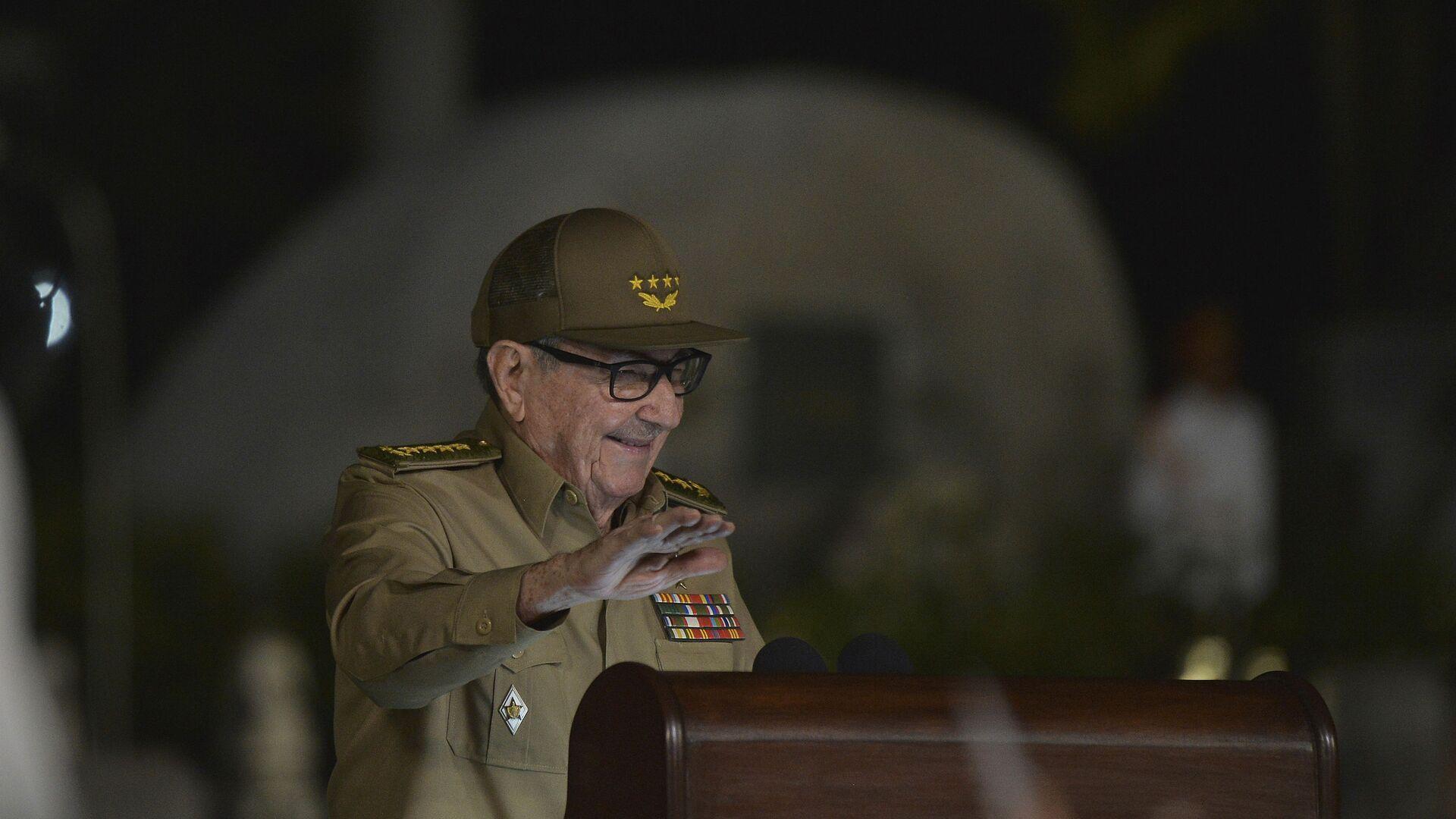 El general Raúl Castro, primer secretario del Comité Central del Partido Comunista de Cuba - Sputnik Mundo, 1920, 14.10.2021