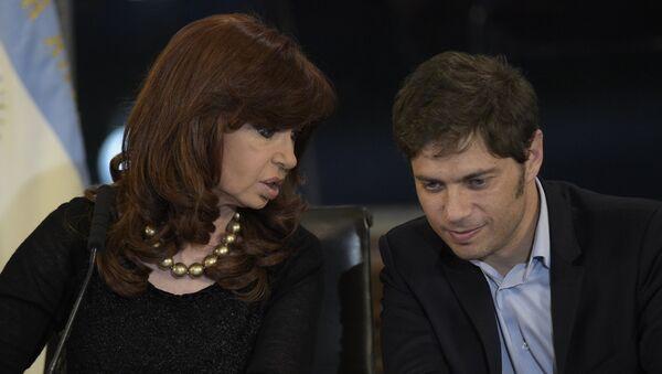 La expresidenta Cristina Kirchner junto a su exministro de Economía, Axel Kicillof - Sputnik Mundo