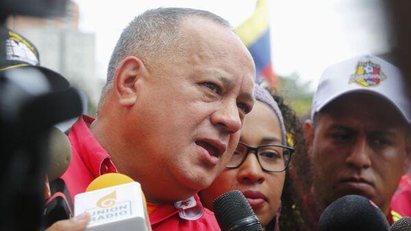 Diosdado Cabello, presidente de la Asamblea Nacional Constituyente de Venezuela, una de las víctimas de las olas de 'fake news' lanzadas contra el Gobierno de Nicolás Maduro - Sputnik Mundo