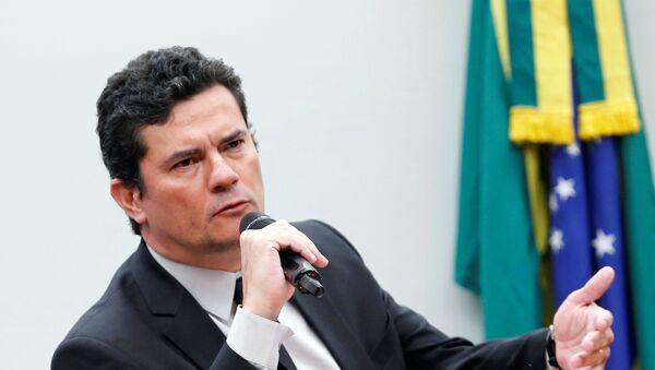 Sérgio Moro, ministro de Justicia de Brasil (archivo) - Sputnik Mundo