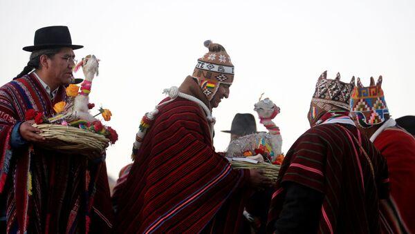 Celebración del día vacío del calendario aymara de 13 meses en Bolivia - Sputnik Mundo