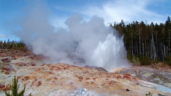 La erupción de géiser Steamboat en el parque nacional de Yellowstone (EEUU) - Sputnik Mundo