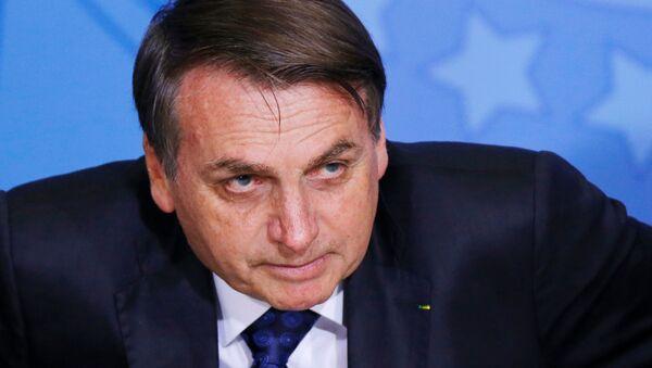 El presidente de Brasil, Jair Bolsonaro (archivo) - Sputnik Mundo