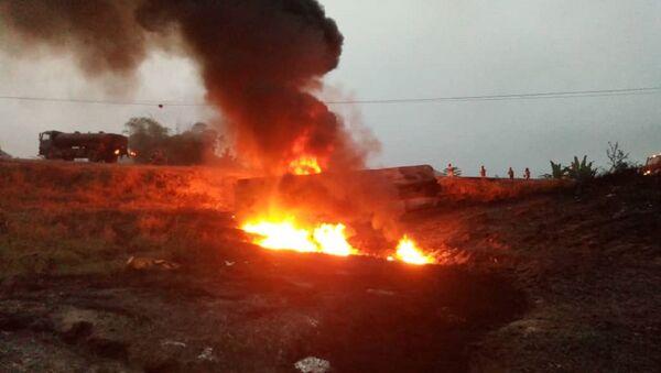 Explosión de un camión cisterna en Nigeria (archivo) - Sputnik Mundo
