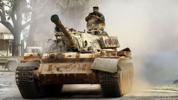 Un tanque del Ejército Nacional de Libia (archivo) - Sputnik Mundo