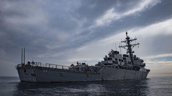 El destructor estadounidense USS Carney  - Sputnik Mundo
