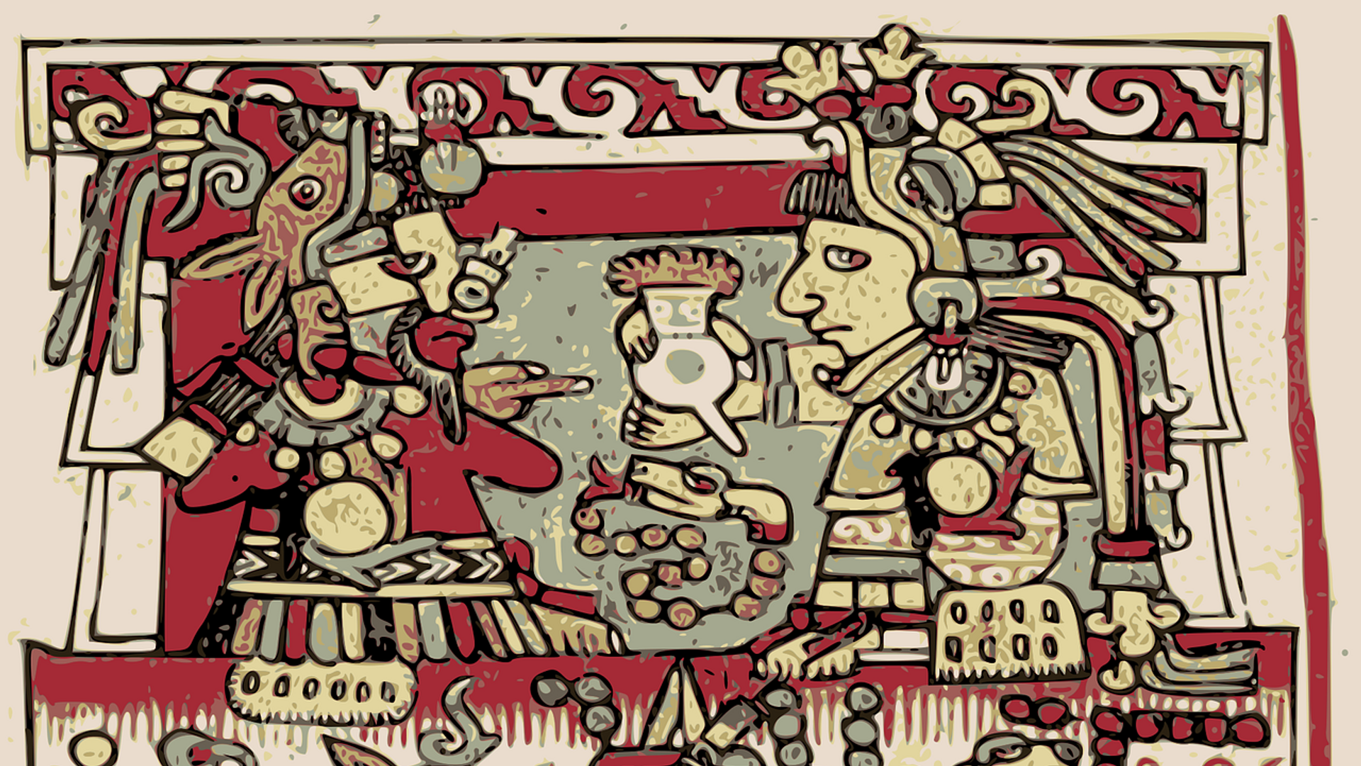 Un dibujo azteca - Sputnik Mundo, 1920, 03.02.2021