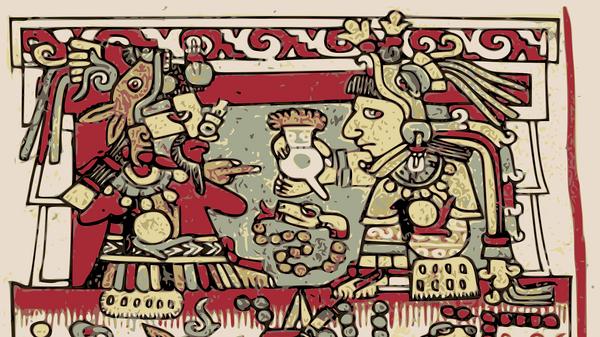 Un dibujo azteca - Sputnik Mundo