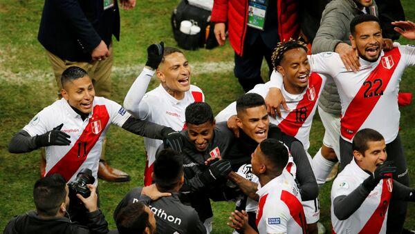 Parte de la selección de Perú en la Copa América 2019 en Río de Janeiro, Brasil - Sputnik Mundo