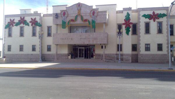 Edificio de la Presidencia Municipal de Cuauhtémoc (Chihuahua) en México - Sputnik Mundo