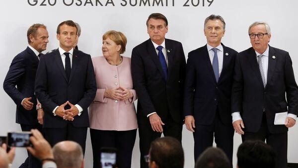 Líderes de la UE y del Mercosur - Sputnik Mundo