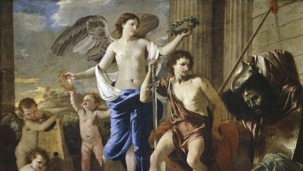 El Triunfo de David, obra de Nicolas Poussin - Sputnik Mundo