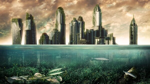 Rascacielos bajo el agua - Sputnik Mundo