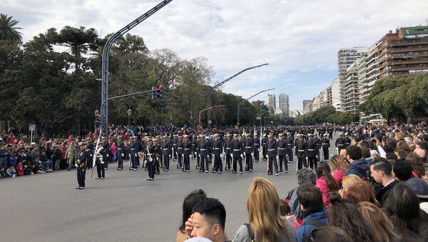 Desfile militar en Argentina por el Día de la Independencia - Sputnik Mundo