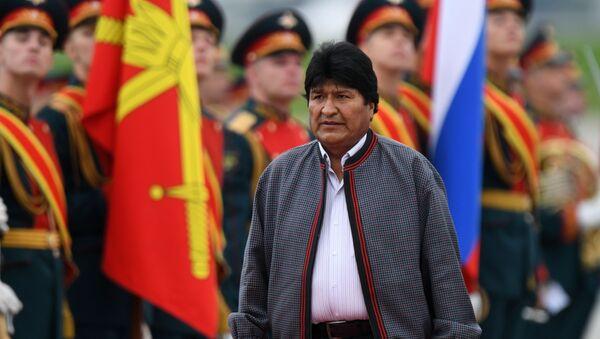 Presidente de Bolivia, Evo Morales, en el aeropuero de Moscú - Sputnik Mundo
