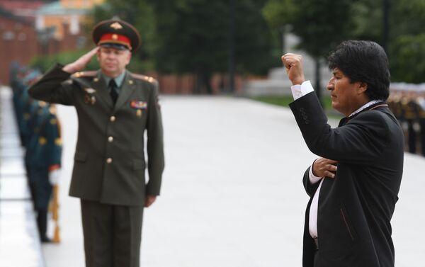 Evo Morales participa en una ceremonia oficial para conmemorar a los héroes caídos durante la Segunda Guerra Mundial en Moscú - Sputnik Mundo