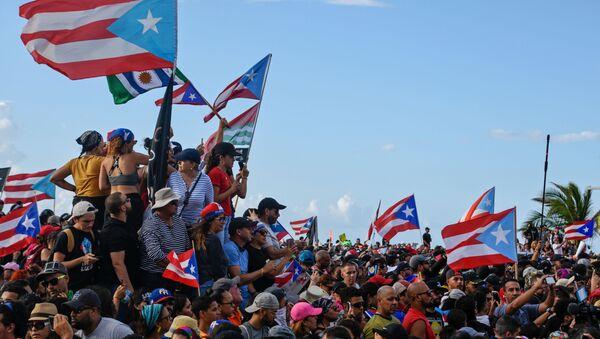 Manifestaciones en Puerto Rico - Sputnik Mundo